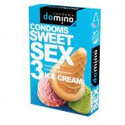 "Презервативы ""DOMINO"" SWEET SEX ICE CREAM (оральные) 3 шт"